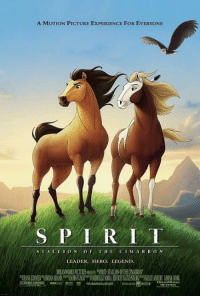 the most underrated DreamWorks movie of all time don't @ me https://t.co/0FfLSR04GR: A MOTION PICTURE EXPERIENCE FOR EVERYONE  S PIRIT  1ST, A 11 ION OF TII E CIMARRON  LEADER. HERO. LEGEND the most underrated DreamWorks movie of all time don't @ me https://t.co/0FfLSR04GR