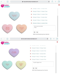 Candy, Memes, and Text: a mycustomcandy.myshopify.com  Custom  CANDY  Design 2: Step 2 Design Type  Design 2: Step 3-Custom Text  Design 3: Step1 Candy Color  Design 3: Step 2 Design Type  Sal doesn't  own any  Him to use my custom  candy  Editing  software  forcing  Him to use  my custom  candy  tAtA  NOTE: Limit 8 characters per line, 3 line limit.  a mycustomcandy.myshopify.com  Cuatom  CANDY  Design 2: Step 2- Design Type  Design 2: Step 3 Custom Text  Design 3 Step 1 Candy Color  Design 3: Step 2- Design Type  Design 3: Step 3- Custom Text  To make  his memes  Tonight's biggest loser  Making  him  Tonight's  biggest  loser  NOTE: Limit 8 characters per line, 3 line limit.