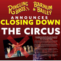 "Disney, Memes, and Monster: A N N O U N C E S  CLOSING DOWN  THE CIRCUS  A message from Kenneth Feld, chairman and CEO  of Feld Entertainment, the producer of Ringling  Bros. and Barnum & Bailey  After much evaluation and deliberation, my family and I have made the difficult business decision that Ringing  Bros. and Bamum & Bailey will hold its final performances in May of this year. Ringing Bros. ticket sales have  been declining, but following the transition of the elephants off the road, we saw an even more dramatic drop.  This, coupled with high operating costs, made the circus an unsustainable business for the company.  Nearly 50 years ago, my father founded our company with the acquisition of Ringling Bros The circus and its  people have continually been a source of inspiration and joy to my family and me, which is why this  was such a  tough business decision to make. The decision was  even more difficult because of the amazing fans that have  become part of our extended circus famity over the years, and we are extremely grateful to the millions of  familes who have made Ringling Bros part of their lives for generations. We know Ringling Bros. isn't cnly our  family business, but also your family tradition.  ng Bros. and Barnum & Bailey Presents Circus XTREME wil conclude its tour at the Dunkin' Donuts  Center in Providence, RIL, on May 7, 2017, and Ringling Bros. and Barnum & Bailey Presents out of This  World will conclude its tour at the Nassau Veterans Memorial Coliseum in Uniondale, NY, on May 21, 2017, We  you wa come to celebrate this American icon for  one last time before our tours conclude.  r company provides quality, live family entertainment, and we invite you to bring your family to one of our other  ents, including Marvel Universe LIVE!. Monster Jam, Monster Energy Supercross, AMSOIL Arenactoss,  Disney On Ice and Disney Live  as well as future productions.  or all of  live entertainment produced at Feld  tertainment. We learned from the circus, and applied those learnings to our other productions. Without  Ringling Bros., we wouldn't have the vibrant live entertainment company that we have today. Ringiing Bros. will  always be part of Feld Entertainment and its spirit will live on in every production and project we do. BREAKING NEWS!!! RINGLING BROS SAYS NO MORE CIRCUS!!!!!! It ends in May!✨ No news yet on where the animals will go, but this is huge news! ✨See the letter from the CEO from ringlingbros.com ▪️ ""Feld Entertainment Announces Final Performances of Ringling Bros. and Barnum & Bailey® Circus in May 2017"" ""Ellenton, Fla. – January 14, 2017 – Feld Entertainment Inc., parent company of Ringling Bros. and Barnum & Bailey® and the world's largest producer of live family entertainment, announced today that the iconic 146-year-old circus would hold its final performances later this year. Ringling Bros.®' two circus units will conclude their tours with their final shows at the Dunkin' Donuts Center in Providence, R.I., on May 7, and at the Nassau Veterans Memorial Coliseum in Uniondale, N.Y., on May 21, 2017. The decision to end the circus tours was made as a result of high costs coupled with a decline in ticket sales, making the circus an unsustainable business for the company. Following the transition of the elephants off the circus, the company saw a decline in ticket sales greater than could have been anticipated."" BOYCOTTCIRCUS WEDIDIT OURVOICESHEARD BOYCOTTCIRCUS @christylee787 @protect.animals.worldwide @boycottcircus @blackjaguarwhitetiger"