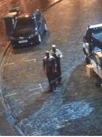 A new AVENGERS: INFINITY WAR set photo from Edinburgh gives us our first low-res look at Vision in the movie!  (Brian): A new AVENGERS: INFINITY WAR set photo from Edinburgh gives us our first low-res look at Vision in the movie!  (Brian)