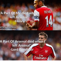 "Bendtner be like ... 🔺WATCH ALL TODAY'S HIGHLIGHTS --> DOWNLOAD FREE APP IN OUR BIO!!!: A Part of Me died when  HENM  left Arsenal""  Henry  VETROLLFOOTBALL  AMSOCCERMEMES  A Part of Arsenal died when I  left Arsenal""  -Lord Bendtner  Emirates Bendtner be like ... 🔺WATCH ALL TODAY'S HIGHLIGHTS --> DOWNLOAD FREE APP IN OUR BIO!!!"
