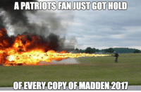 Rob Gronkowski: The latest victim of the Madden curse Credit: Paul Fitzy Fitzgerald: A PATRIOTS FAN JUST GOT HOLD  OR EVERY COPY OF MADDEN 2017 Rob Gronkowski: The latest victim of the Madden curse Credit: Paul Fitzy Fitzgerald