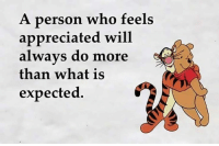Memes, Appreciate, and What Is: A person who feels  appreciated will  always do more  than what is  expected.