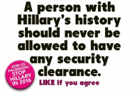 "America, Crime, and Donald Trump: A person with  should never be  allowed to have  any security  clearance.  HILLARY  LIKE if you agree  IN 99 percent chance foreign intel agencies breached Clinton server  Authorities now believe there is about a 99 percent chance that up to five foreign intelligence agencies may have accessed and taken emails from Hillary Clinton's private server, two separate sources with intimate knowledge of the FBI investigations told Fox News.  The revelation led House Homeland Security Committee Chairman Michael McCaul to describe Clinton's handling of her email system during her tenure as secretary of state as ""treason.""  ""She exposed [information] to our enemies,"" McCaul said on ""Fox & Friends"" Thursday morning. ""Our adversaries have this very sensitive information. … In my opinion, quite frankly, it's treason.""  McCaul, R-Texas, said that FBI Director James Comey told him previously that foreign adversaries likely had gotten into her server. When Comey publicly discussed the Clinton email case back in July, he also said that while there was no evidence hostile actors breached the server, it was ""possible"" they had gained access.  Clinton herself later pushed back, saying the director was merely ""speculating.""  But sources told Fox News that Comey should have said at the time there is an ""almost certainty"" that several foreign intelligence agencies hacked into the server.  The claims come as Comey's FBI not only revisits the email investigation following the discovery of additional emails on the laptop of ex-Rep. Anthony Weiner – the estranged husband of Clinton aide Huma Abedin – but is proceeding in its investigation of the Clinton Foundation.  That investigation has now taken a ""very high priority,"" sources told Fox News. It has been proceeding for more than a year, led by the White-Collar Crime division.  Fox News is told agents have interviewed and re-interviewed multiple people regarding the case.  Even before the WikiLeaks dumps of alleged emails linked to the Clinton campaign, FBI agents had collected a great deal of evidence, law enforcement sources told Fox News.  ""There is an avalanche of new information coming in every day,"" one source told Fox News, adding some of the new information is coming from the WikiLeaks documents and new emails.  FBI agents are ""actively and aggressively pursuing this case,"" and will be going back and interviewing the same people again, some for the third time, sources said.  Agents also are going through what Clinton and top aides have said in previous interviews as well as the FBI 302 documents, which agents use to report interviews they conduct, to make sure notes line up, according to sources.  Officials from the FBI did not immediately respond Wednesday to requests for comment by Fox News.   Craig Minassian, with the Clinton Foundation, told Fox News in a statement: ""We're not aware of any investigation into the Foundation by the Department of Justice, Federal Bureau of Investigation, or any United States Attorney's Office and we have not received a subpoena from any of those agencies.""   The information follows a report over the weekend by The Wall Street Journal that four FBI field offices have been collecting information about the foundation.  The probes – in addition to the revived email investigation – have fueled renewed warnings from Republicans that if Clinton is elected next week, she could take office under a cloud of investigations.  ""This is not just going to go away … if she ends up winning the election,"" Rep. Ron DeSantis, R-Fla., told Fox News' ""America's Newsroom"" earlier this week.  Donald Trump has referenced this scenario, repeatedly saying on the stump this past week that her election could trigger a ""crisis.""  ""It would create an unprecedented and protracted constitutional crisis,"" Trump said Wednesday in Miami.  Fox News first reported in January that the FBI investigation into Clinton's use of private email as secretary of state had expanded to look at whether the possible ""intersection"" of Clinton Foundation work and State Department business may have violated public corruption laws.  Clinton told The Des Moines Register at the time that the claim was ""without merit"" and she had heard nothing from the FBI."