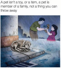 Family, Can, and Pet: A pet isn't a toy, or a item, a pet is  member of a family, not a thing you can  throw away <p>Part Of Your Family.</p>