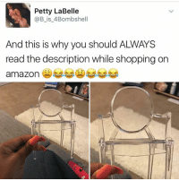 Amazon, Cute, and Petty: A Petty LaBelle  (a B is 4Bombshell  And this is why you should ALWAYS  read the description while shopping on  amazon Still cute tho