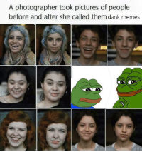 "Beautiful, Dank, and Meme: A photographer took pictures of people  before and after she called them dank memes <p>This is beautiful&hellip; via /r/dank_meme <a href=""http://ift.tt/2gxSP2C"">http://ift.tt/2gxSP2C</a></p>"