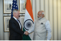 A picture from PM Narendra Modi's meeting with US Secretary of Defence Mr. James Mattis.: A picture from PM Narendra Modi's meeting with US Secretary of Defence Mr. James Mattis.