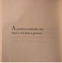 "Funny, Money, and Book: A positive outlook can  turn a rut into a groove. *Link in bio* Random page of the day from ""Happy Is The New Rich"". This book of quotes that I wrote over the course of 10 years is not about money, but perspective. Appreciation > accumulation. Wealth is in the mind of the beholder. This book is about mindsets that I adopted that allow me to feel like a million bucks, whether or not I have the money."