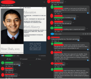 A pseudo-relative of mine and his friend on Maine's CDC director (((Dr. Shah))), his ties to Soros and how this is all an attack on Trump.: A pseudo-relative of mine and his friend on Maine's CDC director (((Dr. Shah))), his ties to Soros and how this is all an attack on Trump.