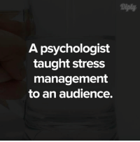 A psychologist gives an important lesson on how to manage stress. #diplyvideo: A psychologist  taught stress  management  to an audience. A psychologist gives an important lesson on how to manage stress. #diplyvideo