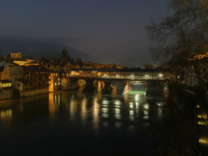 A quick shot of the wooden bridge in Bassano del Grappa, Veneto, Italy during night. Picture was taken with the Night Mode of my Huawei Mate 10 Pro, i was shocked when i seen the result [OC]: A quick shot of the wooden bridge in Bassano del Grappa, Veneto, Italy during night. Picture was taken with the Night Mode of my Huawei Mate 10 Pro, i was shocked when i seen the result [OC]