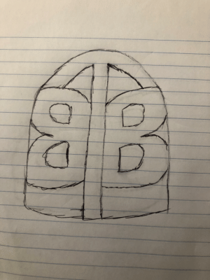 A quick sketch of a concept logo for Andy's Big Tongue Barrett logo. I can't draw and it shows. Can anyone do a punch up on this idea?: A quick sketch of a concept logo for Andy's Big Tongue Barrett logo. I can't draw and it shows. Can anyone do a punch up on this idea?