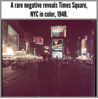 Memes, Express, and Square: A rare negative reveals Tlimes Square,  NYC in color, 1948  LENDED  HISKE  MACYS  CL  APITOLa  ERLIN  EXPRESS  NA, One of my favorite photos of Times Square.