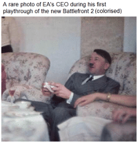 """Memes, Http, and Battlefront: A rare photo of EA's CEO during his first  playthrough of the new Battlefront 2 (colorised) <p>Looking very kampfy there sir! via /r/memes <a href=""""http://ift.tt/2zNFdKc"""">http://ift.tt/2zNFdKc</a></p>"""