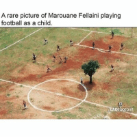 😂😂: A rare picture of Marouane Fellaini playing  football as a child  ADfootball 😂😂