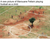 😂😂: A rare picture of Marouane Fellaini playing  football as a child  LAD football 😂😂