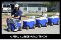 Train: A REAL AUSSIE ROAD TRAIN