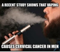 Check us out at Rude, Crude, and Lewd Humor: A RECENT STUDY SHOWS THAT VAPING  CAUSESCERVICALCANCER IN MEN Check us out at Rude, Crude, and Lewd Humor