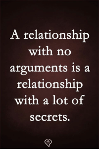 Memes, 🤖, and Secrets: A relationship  with no  arguments is a  relationship  with a lot of  secrets.