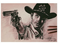 A Rick Grimes Flashback. #TWD Fan Art by Sofia Venstad Submit now: http://thewalkingdead.tumblr.com/submit: A Rick Grimes Flashback. #TWD Fan Art by Sofia Venstad Submit now: http://thewalkingdead.tumblr.com/submit