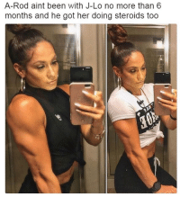 Y'all dead wrong for this one...😳😩☠️ https://t.co/fs8hOYoHf5: A-Rod aint been with J-Lo no more than 6  months and he got her doing steroids too Y'all dead wrong for this one...😳😩☠️ https://t.co/fs8hOYoHf5