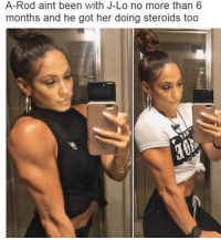 When you start to find your inner A-Rod 😂😅  h/t MLB Laughs: A-Rod aint been with J-Lo no more than 6  months and he got her doing steroids too When you start to find your inner A-Rod 😂😅  h/t MLB Laughs