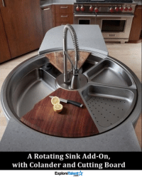 Memes, Board, and 🤖: A Rotating Sink Add-on,  with Colander and Cutting Board  TalentA  Explore The worlds most perfect sink 😍😱