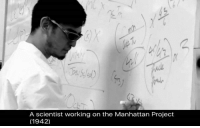 Physical Physics: A scientist working on the Manhattan Project  (1942)
