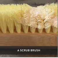 Oddly satisfying to watch this stuff melt!: A SCRUB BRUSH Oddly satisfying to watch this stuff melt!