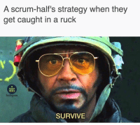 SURVIVE 😂😂😂 rugby scrumhalfproblems banter: A scrum-half's strategy when they  get caught in a ruck  RUGBY  MEMES  nstagaum  SURVIVE SURVIVE 😂😂😂 rugby scrumhalfproblems banter