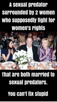 thumb_a sexual predator surrounded by 2 women who supposedly fight 28350281 25 best womens rights memes marching memes, important things memes