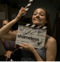 Fiona's not the only one calling the shots this season. Go behind-the-scenes of Emmy Rossum's directorial debut!: a  shameless  season  04  director emmy rossum  camera lore  , Fiona's not the only one calling the shots this season. Go behind-the-scenes of Emmy Rossum's directorial debut!