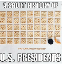 A SHORT HISTORY OF  WEFUCKINGHATEDONALDTRUMP  US PRESIDENTS ohmybushes