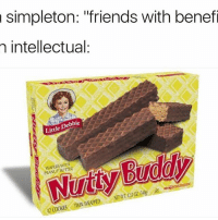 "Friends, Funny, and Simple: a simpleton: ""friends with benefi  intellectual.  ebbie  De  Little  PEANUT BUTTER  WRAPPED  nWIN Keep it simple"
