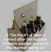 "Beer, Dank, and Meme: A ""Six Pack"" of beer is  named after the number  of beers you get in a pack  the number being six. <p>Who fuckin knew? via /r/dank_meme <a href=""http://ift.tt/2xCl5KM"">http://ift.tt/2xCl5KM</a></p>"