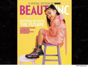 "😍 Kim and Kanye's 5-year-old daughter is the solo star of the cover of 'WWD' magazine's special ""Beauty Inc"" issue ... with a tagline, ""Keeping Up With the Future."" tmz wwd kimkardashian kanyewest northwest model fashion: A SPECIAL EDITION OF WWD  KEEPING UP WITH  THE FUTURE  MOVE OVER MILLENNIALS  LEADS THE WAY  AS A NEW GENERATION  COMES OF AGE  WWD & @jucopholo 😍 Kim and Kanye's 5-year-old daughter is the solo star of the cover of 'WWD' magazine's special ""Beauty Inc"" issue ... with a tagline, ""Keeping Up With the Future."" tmz wwd kimkardashian kanyewest northwest model fashion"