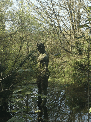 A statue of lucifer at the devils hole in jersey: A statue of lucifer at the devils hole in jersey
