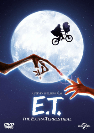 "Steven Spielberg, Video, and E.T.: A STEVEN SPIELBERG FILM  E.T.  THE EXTRA-TERRESTRIAL  DVD  UNIVERSAL  VIDEO I hereby declare that having your hormone levels checked shall from now on be referred to as ""checking your Extra Terrestrials"""