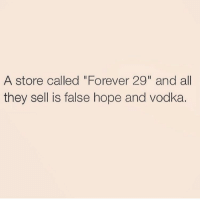 """Girl Memes, Eggplant, and Eggplant Emoji: A store called """"Forever 29"""" and all  they sell is false hope and Vodka. Forever 24 would come with a lot of eggplant emojis and texts on """"seen"""" 😩 rp @1foxybitch"""