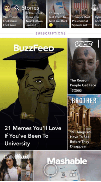 """<p>&ldquo;CANT FAIL IF YOU DONT SHOW UP&rdquo; MEMES REACH BUZZFEED&rsquo;S SNAPCHAT. SELL ALL STOCK NOW via /r/MemeEconomy <a href=""""http://ift.tt/2lc70xd"""">http://ift.tt/2lc70xd</a></p>: a Stories  dsThe Greek 111 Ways to  Wwil TheseFreak TheGet Them to Trump'sMost Kylie  Lookalikes  Fool You?  Next LeBron Text You Back Presidentiaboot  James?  Speech Yet  fashi  SUBSCRIPTIONS  BuzzFeeD  The Reason  People Get Face  Tattoos  BROTHER  21 Memes You'll Love  If You've Been To  University  15 Things You  Have To See  Before They  Disappear  aily  Mashable  18 P96  으、 <p>&ldquo;CANT FAIL IF YOU DONT SHOW UP&rdquo; MEMES REACH BUZZFEED&rsquo;S SNAPCHAT. SELL ALL STOCK NOW via /r/MemeEconomy <a href=""""http://ift.tt/2lc70xd"""">http://ift.tt/2lc70xd</a></p>"""