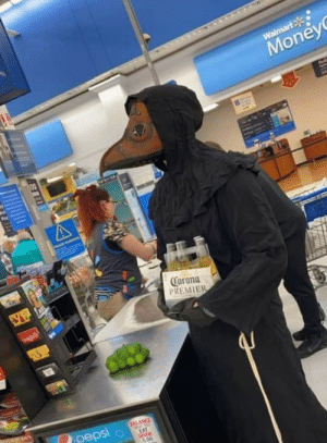 A stranger took a picture of me wearing the proper PPE for a trip to Walmart for just the essentials. It made the rounds on Facebook before one of my friends sent it to me.: A stranger took a picture of me wearing the proper PPE for a trip to Walmart for just the essentials. It made the rounds on Facebook before one of my friends sent it to me.