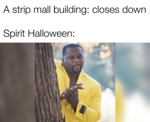 It's free real estate. by longshanks7 MORE MEMES: A strip mall building: closes down  Spirit Halloween It's free real estate. by longshanks7 MORE MEMES