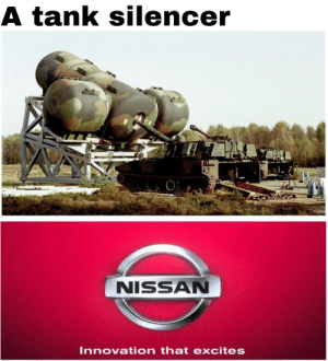 Well that's very interesting: A tank silencer  NISSAN  Innovation that excites Well that's very interesting