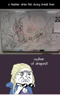 What can YOU do on your free time: a teacher drew His during break Hime  mother  of dragons What can YOU do on your free time