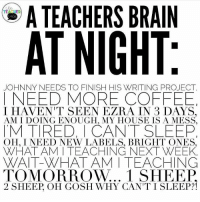 "548 Likes, 12 Comments - Chelsey (@hipsterartteacher) on Instagram: ""The teacher mailbox in my room is from @joann_stores online! I used my @silhouette.inc cameo 3 to…"": A TEACHERS BRAIN  AT NIGHT  JOHNNY NEEDS TO FINISH HIS WRITING PROJECT.  I NEED MORE COFFEE  I HAVEN'T SEEN EZRA IN 3 DAYS.  AM I DOING ENOUGH, MY HOUSE IS A MESS.  M TIRED, I CANT SLEEP  OH. I NEED NEW LABELS. BRIGHT ONES  WHAT AM I TEACHING NEXT WEEK.  WAIT-WHAT AM I TEACHING  TOMORROW... 1 SHEEP  2 SHEEP, OH GOSH WHY CANTI SLEEP!! 548 Likes, 12 Comments - Chelsey (@hipsterartteacher) on Instagram: ""The teacher mailbox in my room is from @joann_stores online! I used my @silhouette.inc cameo 3 to…"""