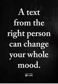 Memes, Mood, and Text: A text  from the  right person  can change  vour whole  mood  Lessons Taught  ByLIFE <3