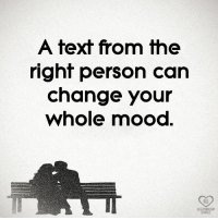 Memes, Mood, and Text: A text from the  right person can  change your  whole mood  RO ❤️
