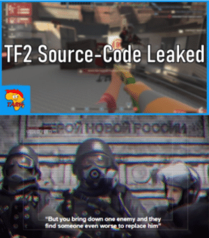 A TF2 and MW2 crossover meme: A TF2 and MW2 crossover meme