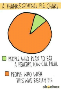 pie: A THANKSGIVING PIE  CHART  PEOPLE WHO PLAN TO EAT  A HEALTH. LOW-CAL MEAL  PEOPLE WHO WISH  THIS WAS REALLY PIE  sh ebox